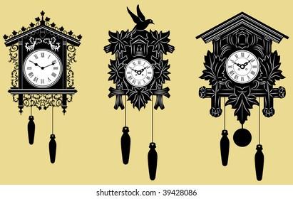 Vector representation of Cuckoo Clocks set