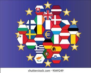 A vector representing europe