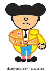Vector representing Kiki dress of blue and gold matador walk