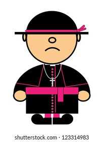 Vector representing Kiki dress of Catholic cardinal