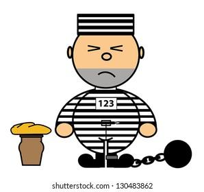 Vector representing Kiki dress convict