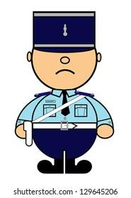 Vector representing Kiki dress of French gendarme