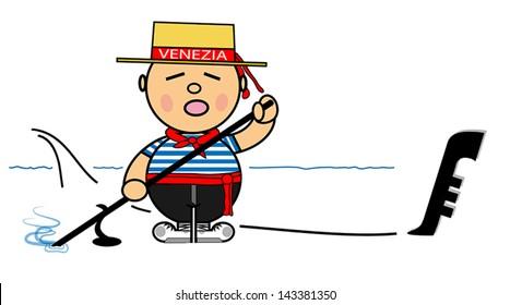 Vector representing Kiki dress of gondolier Venice