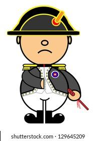 Vector representing Kiki dress of Napoleon