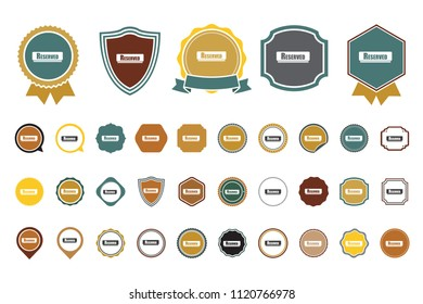 vector reserved icon