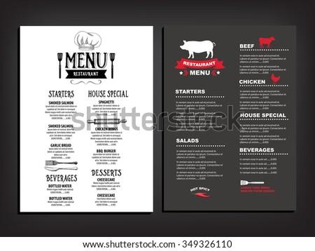 vector restaurant brochure menu design vector stock vector royalty