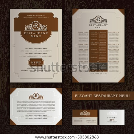 vector restaurant menu design brochure template stock vector