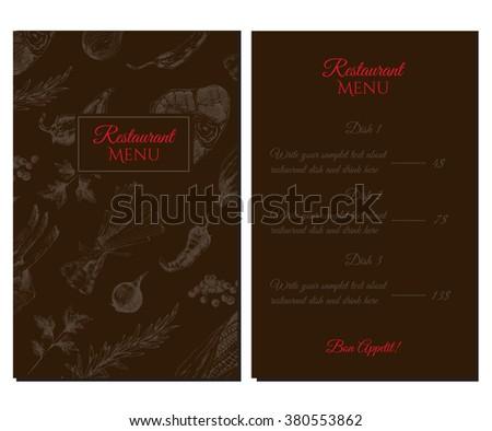 vector restaurant menu designer template sketch stock vector
