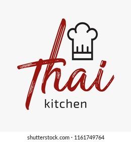 Vector restaurant thai logo