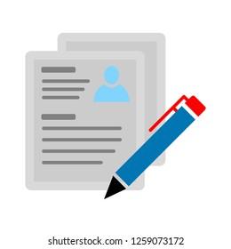 vector Resume icon