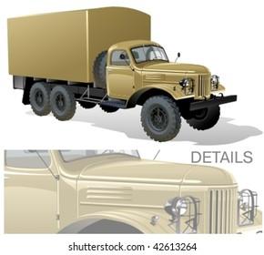 Vector retro all terrain truck. More vector trucks see in my portfolio
