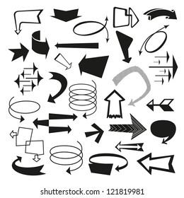 Vector Retro Arrows and Pointers