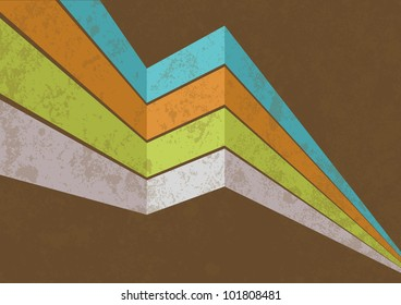 Vector retro background with grungy texture, eps10