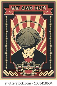 Vector Retro Bully Poster Obey Style
