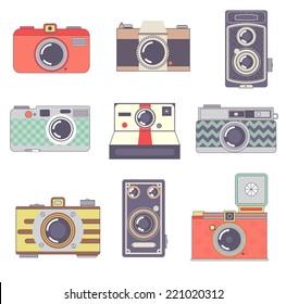 Vector  Retro Cameras