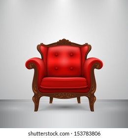 Vector retro chair