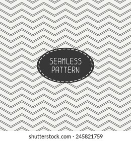 Vector retro chevron zigzag stripes geometric seamless pattern. Vintage hipster striped. For wallpaper, pattern fills, web page background, blog. Stylish graphic texture for your design.
