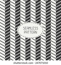 Vector retro chevron zigzag stripes geometric seamless pattern. Vintage hipster striped. For wallpaper, web page background, blog. Stylish graphic texture for your design.