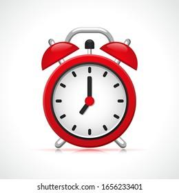 Vector retro clock design concept