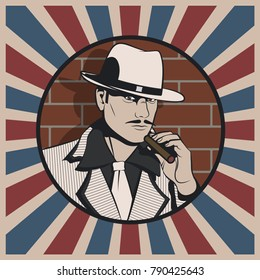 Vector Retro Gangster from the 1920s