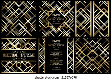 vector retro pattern for vintage party Gatsby style