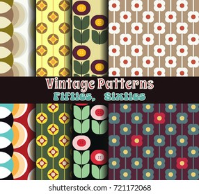 Vector Retro Patterns from the Sixties