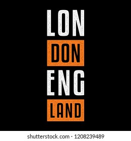 Vector retro print on the theme of London. Vintage design for t-shirt. Stylized vintage colorful typography, banner, flyer, postcard, t-shirt graphics, poster, print. England.