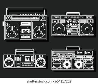 Vector Retro Recorder from the Eighties