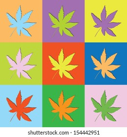 Vector retro set cannabis-eps10