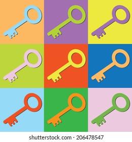 Vector retro set key-eps10