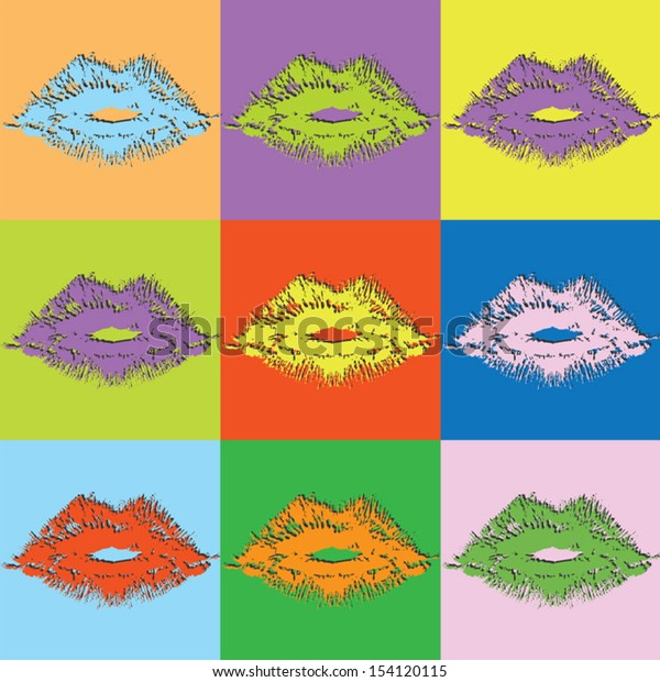 Vector retro set lipstick-eps10