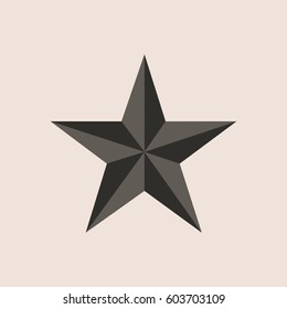 Vector retro star icon