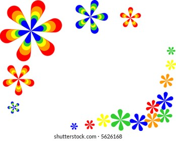 Vector of retro style flowers.