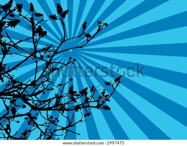 vector retro tree silhouette