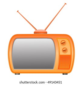 vector retro tv icon