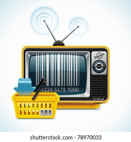 Vector retro TV XXL icon