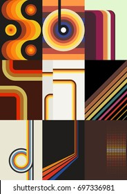Vector Retro Vintage Backgrounds