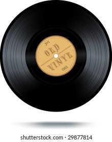 VECTOR. Retro-style vinyl record. Illustration contains lot of details (can slow down your computer while rendering). No gradient mesh used except shadow.