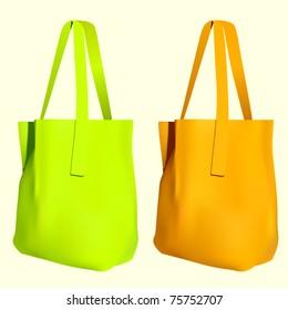 vector reusable shopping bags