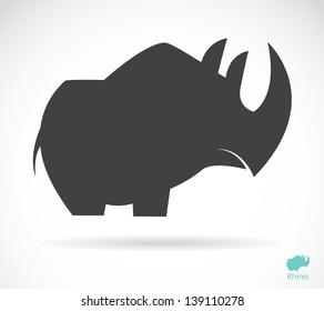 Vector of rhino design on white background. Animal. Wildlife. Easy editable layered vector illustration.
