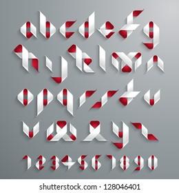 Vector Ribbon Alphabet Set