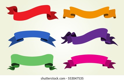 Vector ribbon banners.