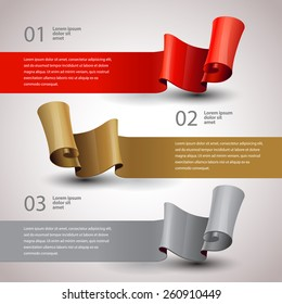 vector ribbons set. Design infographics template. vector Layout