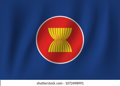 vector of ripple asean aec flag