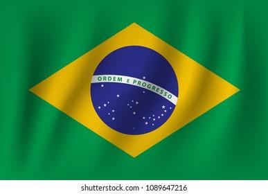 vector of ripple brazil flag