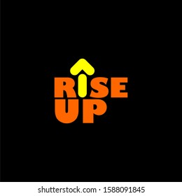 Vector of rise up logo and icon.
