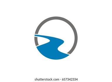 Vector River Logo Template