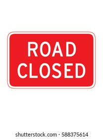 Vector Road Closed Sign