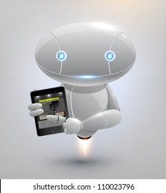 Vector robot with tablet pc