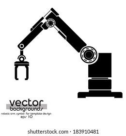 Vector robotic arm  symbol